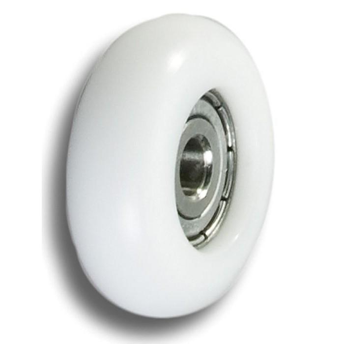 Empacher kogellagerwieltje 32 mm. wit