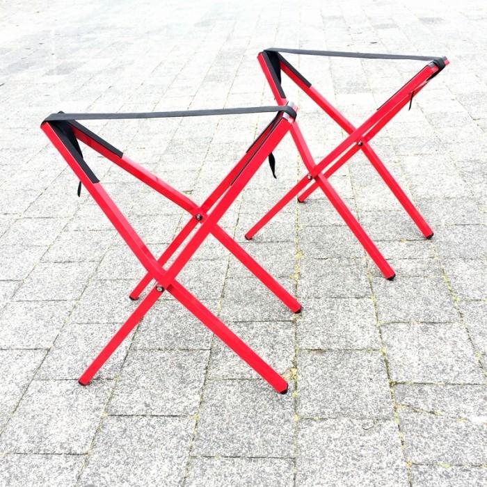 Plat opvouwbare klapschraag - Rood