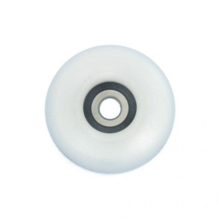 Single action wheel Ø36.5 mm. white