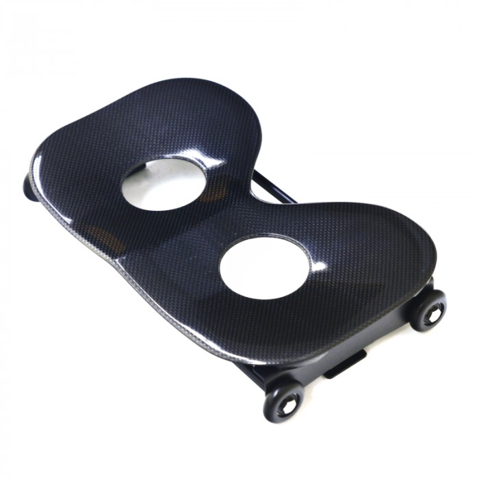 Single action seat wide, carbon, with holes