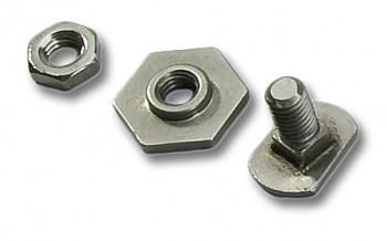 Pivot screw for steering shoe