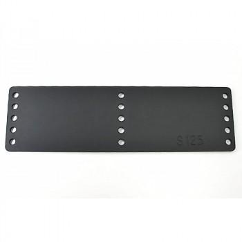 Aluminum plate, no screw holes for shoes