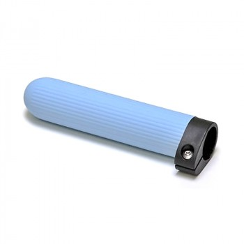Concept 2 adjustable handle, light blue ribbed rubber, for sculls and Skinny oars