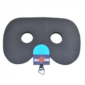 Rowing seat grip-pad