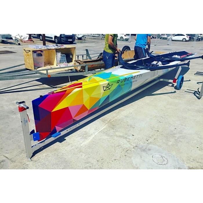 Coastal rowing 2x trolley
